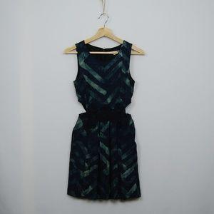 RACHEL Rachel Roy Green Printed Cutout Dress